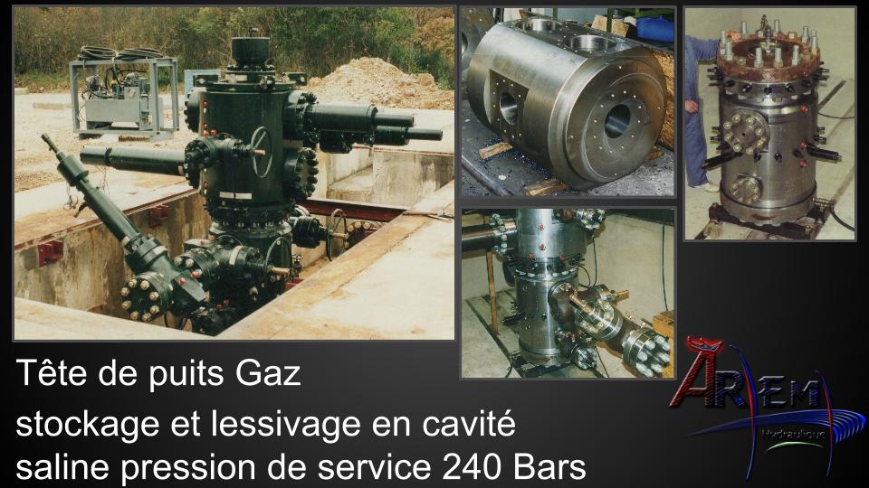 AremH tête de puits stockage Gaz saline