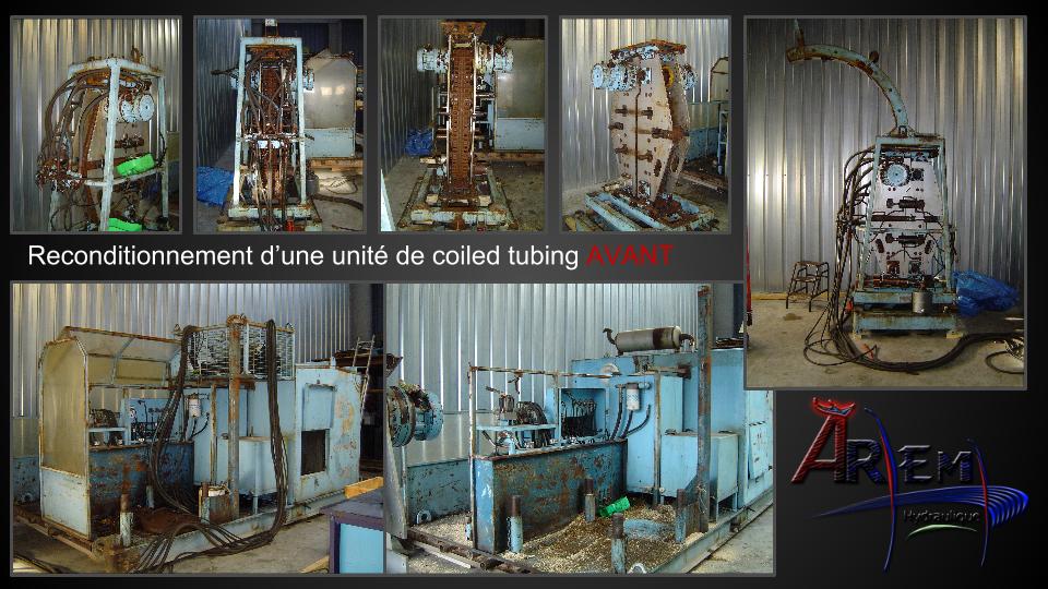 AremH reconditionnement unité Coiled tubing completion puits