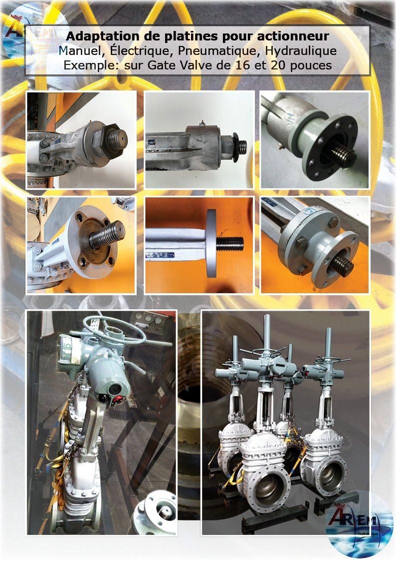 AremH Adaptation Platine ISO Actionneur vannes valves