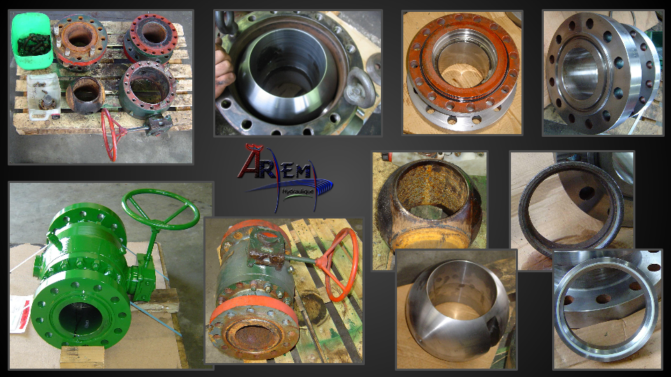 AremH ball valves trunnion Reconditionnement suite
